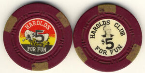 2 Harolds Club Reno Nevada 1965 Clay Casino Chips H.C.E. Mold #3 * in Collectibles, Casino, Chips | eBay
