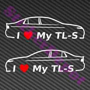 Acura Typespecs on Heart My Tl S Decal Size 6 X1 8  Love Acura Tl Type S Ua7 2007