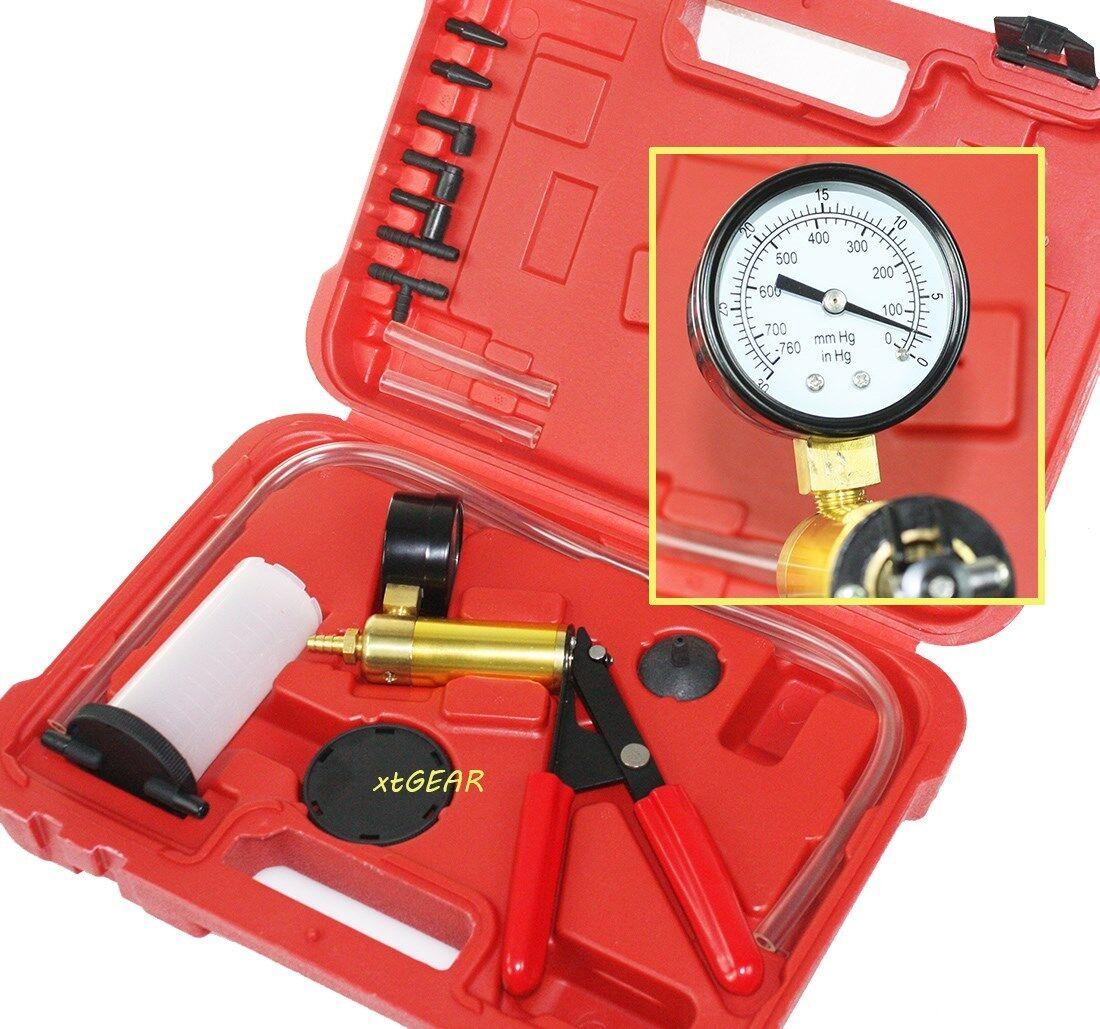 2 in 1 brake bleeder vacuum pump test tuner tool kit new ebay. Black Bedroom Furniture Sets. Home Design Ideas