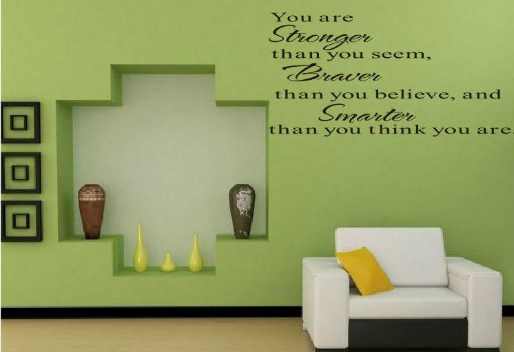 Living room quote removable vinyl wall sticker decal paper for Living room quote stickers