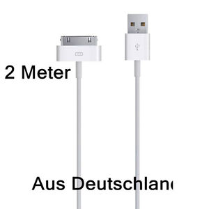 2-Meter-USB-Kabel-Ladekabel-fuer-iPhone-4S-4-3GS-3G-iPod-iPad-Datenkabel-2m-Kabel