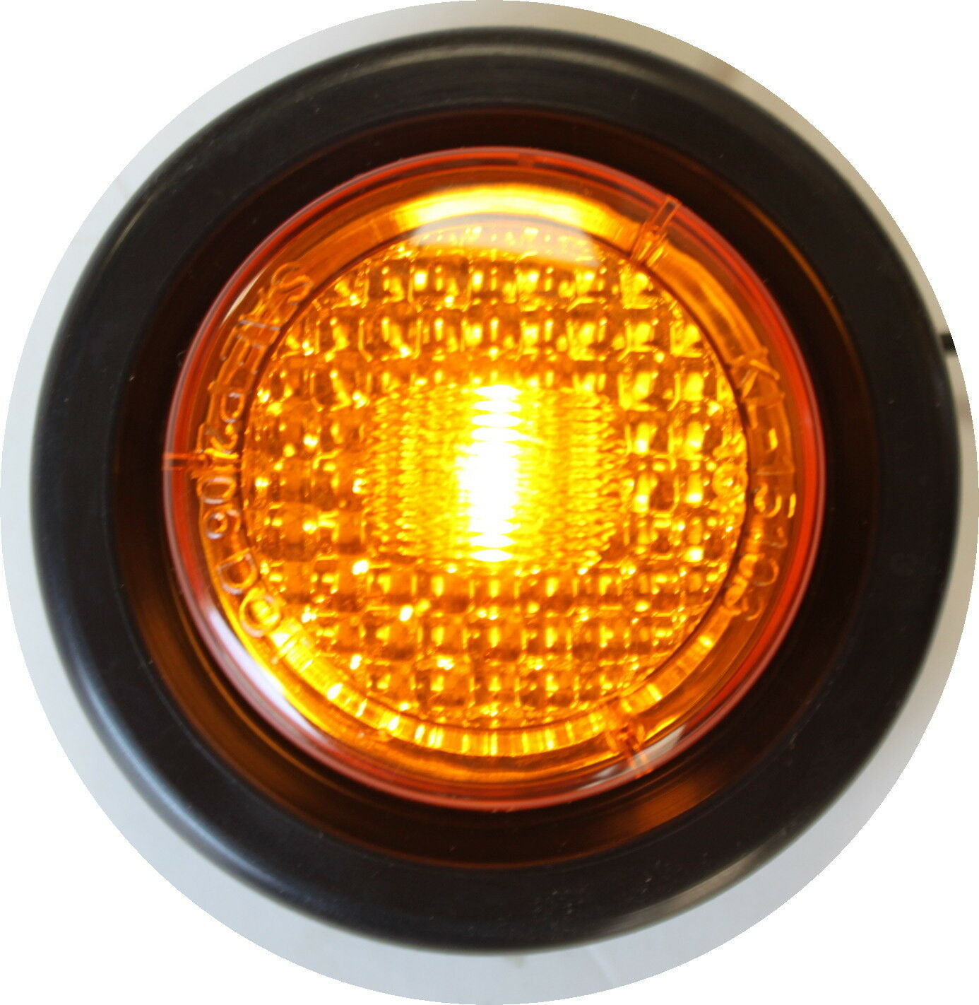 3 AMBER 3 RED NEW LED ROUND CLEARANCE SIDE MARKER TRUCK TRAIER LIGHT Grommet
