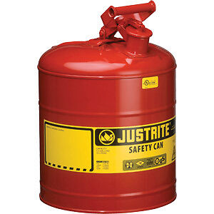 2 Pack Justrite 5 Gallon Type 1 Safety Gas Can # 7150100 in Business & Industrial, Fuel & Energy, Oil & Gas | eBay