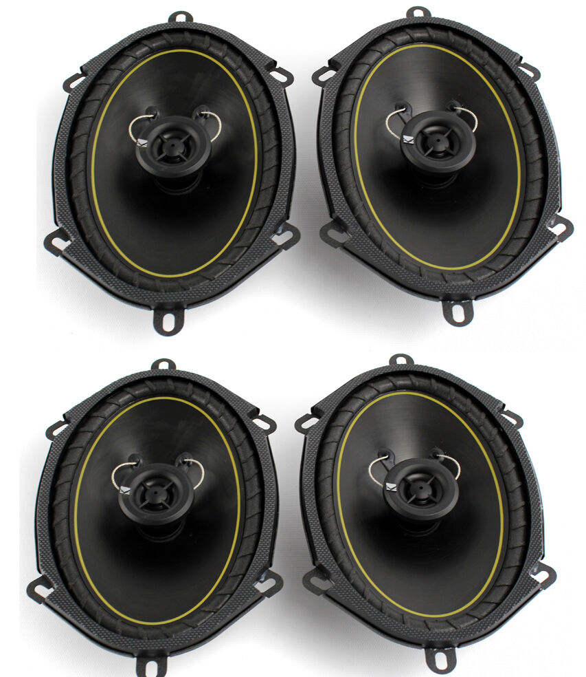 2 Pairs Kicker DS68 6x8 2 Way Coaxial Car Audio Speakers 280 Watts Total 11DS68