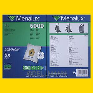 2-Pakete-Menalux-6000-fuer-EIO-10-Vliesgewebebeutel-NEU-10-Beutel