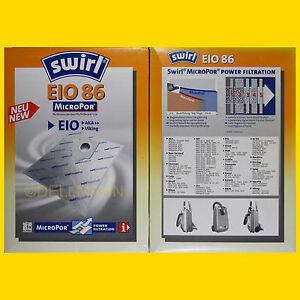 2-Pakete-SWIRL-Staubsaugerbeutel-EIO-86-MicroPor-EIO86-10-Beutel