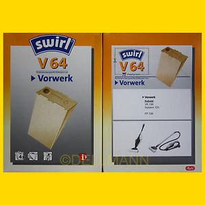 2-Pakete-SWIRL-V-64-Staubsaugerbeutel-Vorwerk-Tiger-V64-8-Beutel
