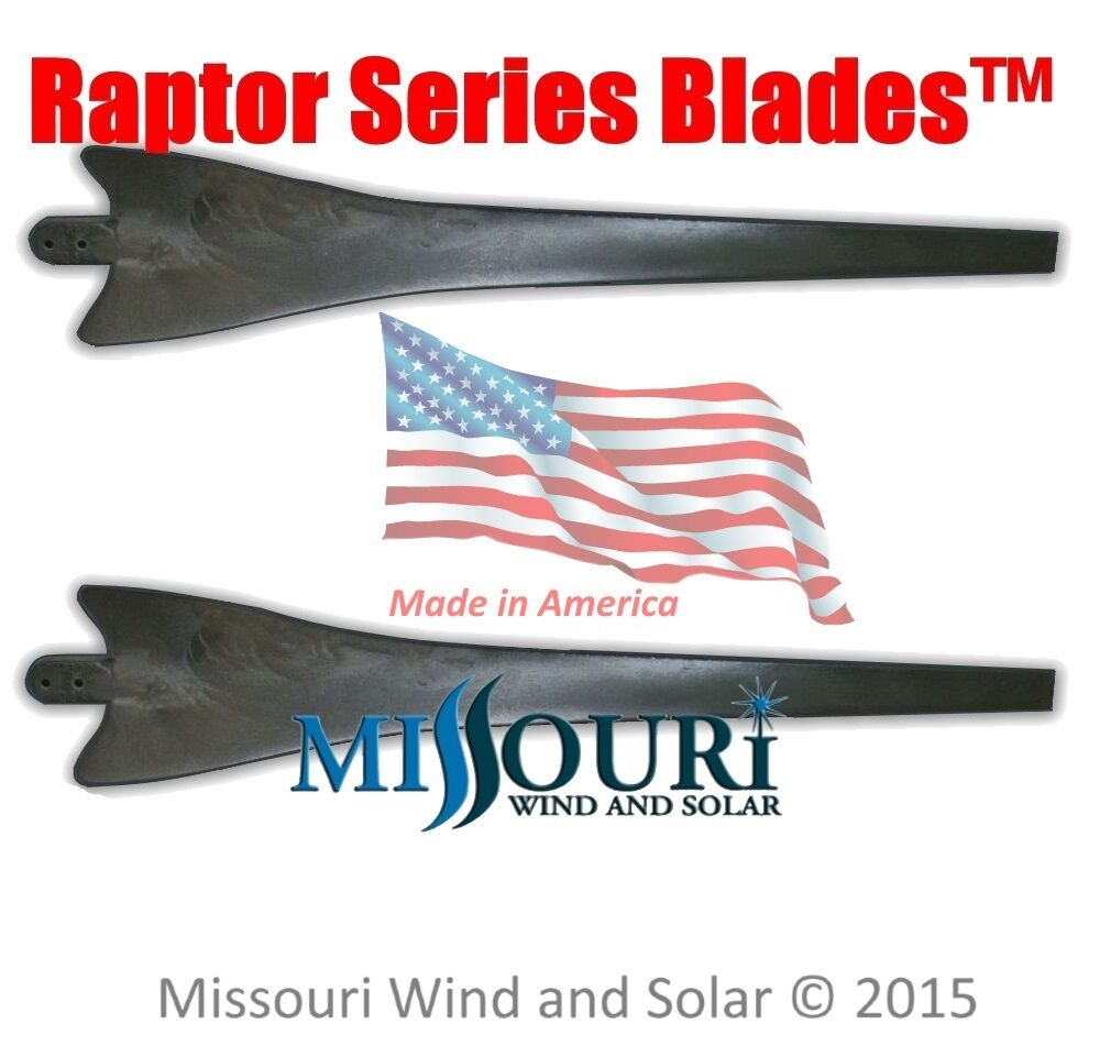 Details about 2 Raptor Series Blades™ BLACK wind turbine generator blades  made in the USA
