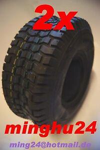 2-Rasenmaeherreifen-Aufsitzmaeher-Reifen-13x5-00-6-Schlauch-13x5-00-6-Traktor-GV