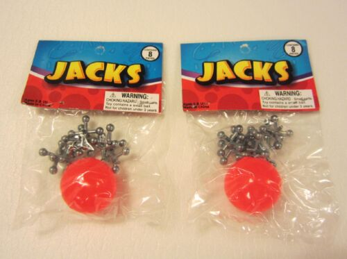 2 SETS OF METAL STEEL JACKS WITH SUPER RED RUBBER BALL GAME CLASSIC TOY KIDS in Toys & Hobbies, Classic Toys, Other | eBay