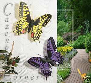 2 set butterfly wall decoration garden ornaments wall