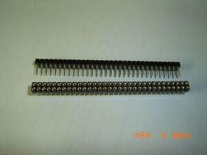 2-Stck-Praezisions-Buchsenleiste-2-reihig-64-pol-gedrehte-Fassung