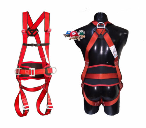 2-Stueck-3-Punkt-Auffanggurt-Fallschutz-Absturzsicherung-Klettergurt-Dachdecker