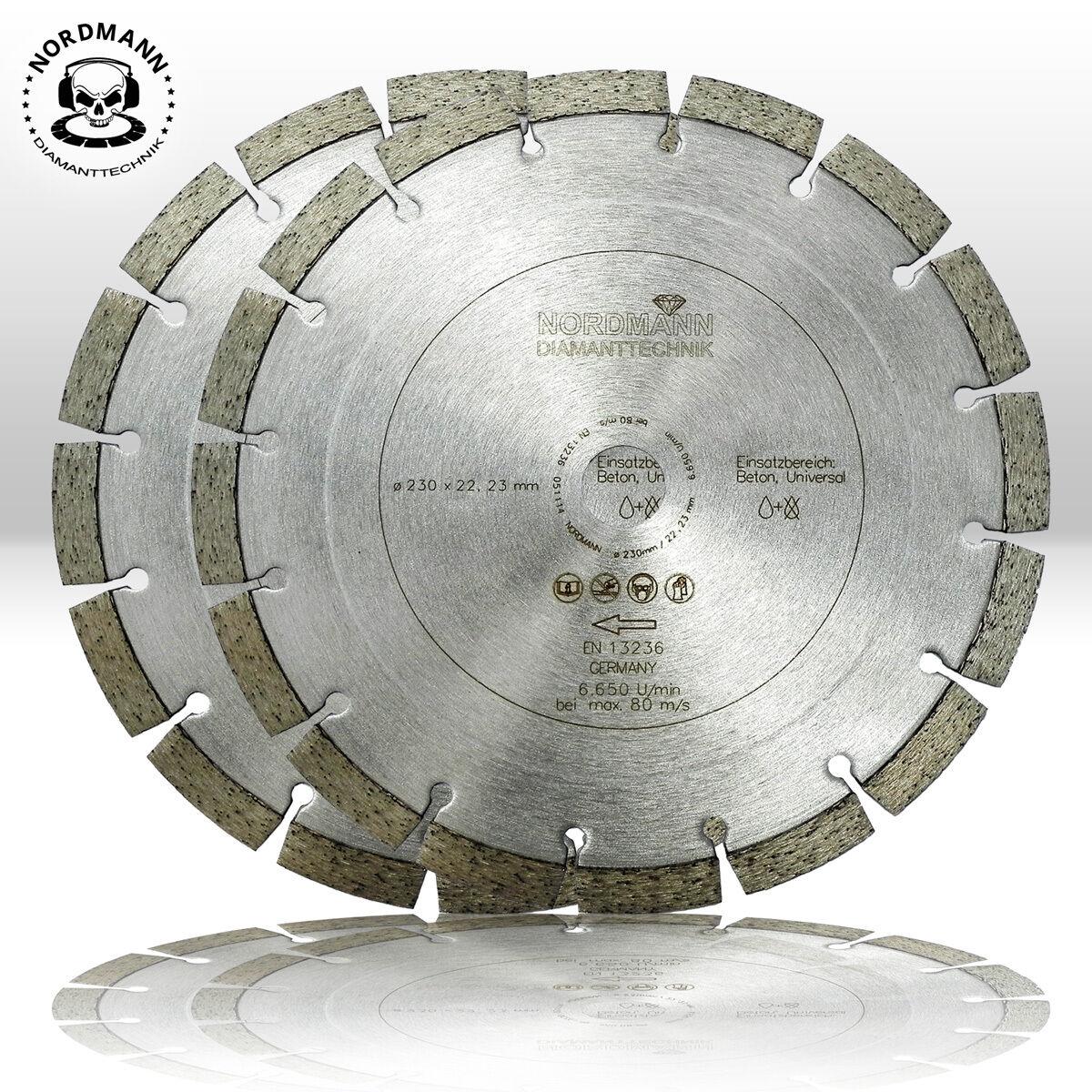2 st ck diamant trennscheibe diamantscheibe 230 mm nordmann n12 beton ebay. Black Bedroom Furniture Sets. Home Design Ideas