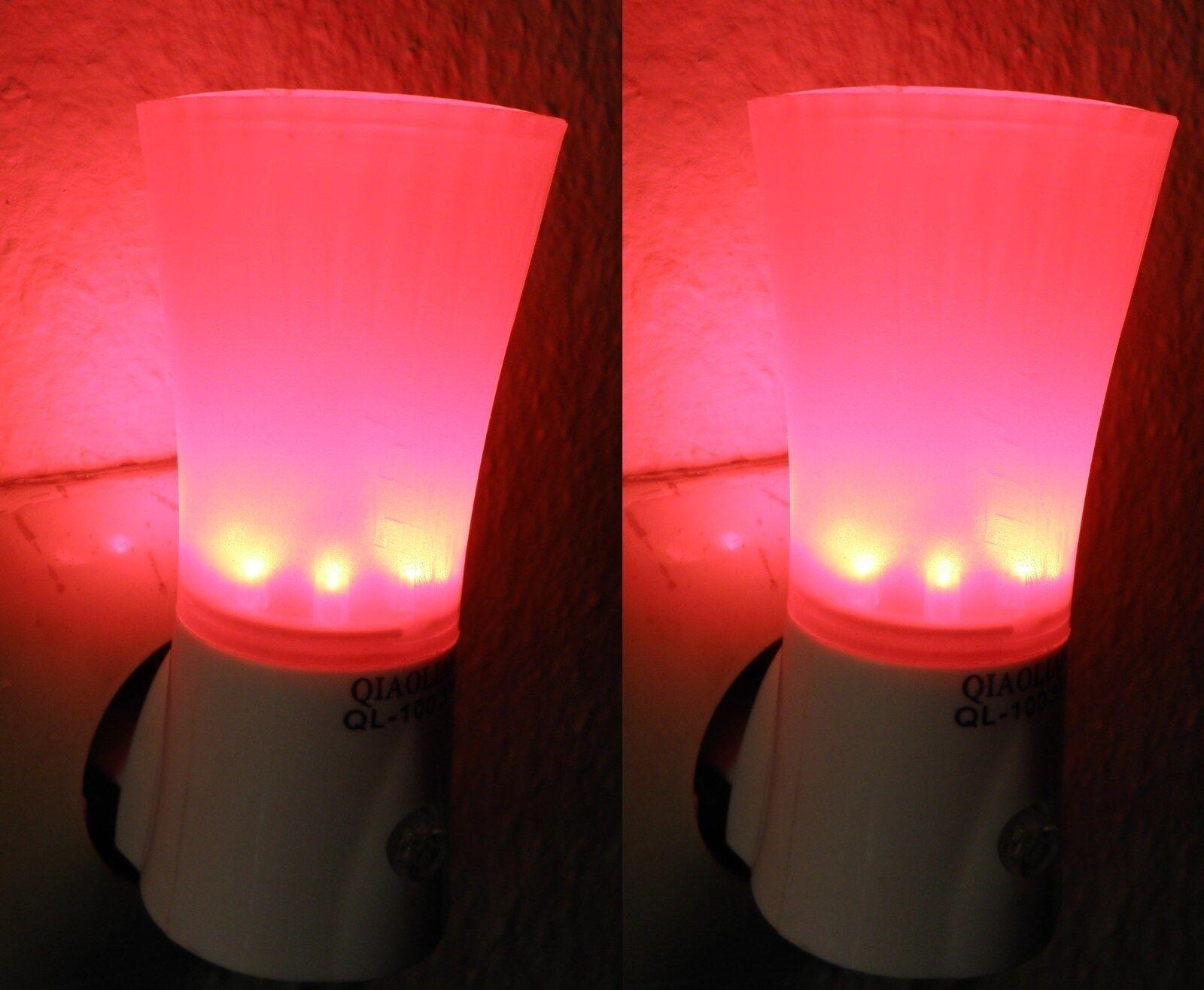 2 st ck led nachtlicht mit schalter f r steckdose orientierungslicht neuware. Black Bedroom Furniture Sets. Home Design Ideas