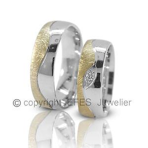 2-Trauringe-Hochzeitsringe-Verlobungsringe-Eheringe-Partnerringe-Ringe