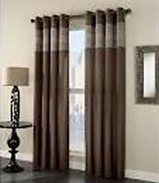 2 - Window Drape PORTER FAUX SILK Grommet Panel 54 x 84 Chocolate BROWN *NEW* in Home & Garden, Window Treatments & Hardware, Curtains, Drapes & Valances | eBay