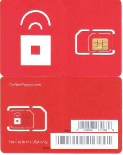 2 X RED POCKET MOBILE DUAL CUT SIM STANDARD OR MICRO SIM CARD in Cell Phones & Accessories, Phone Cards & SIM Cards, SIM Cards | eBay