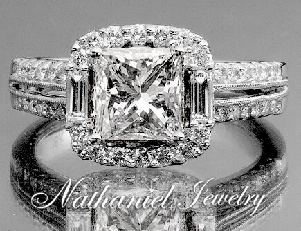 2 carat Certified Diamond Princess Cut Bridal Engagement Ring White Gold 14k in Jewelry & Watches, Engagement & Wedding, Engagement Rings | eBay