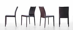 2 er set st hle veronica esszimmerst hle leder braun esszimmer lederst hle ebay. Black Bedroom Furniture Sets. Home Design Ideas