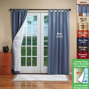 Patio Door Curtains - Insulated Drapes - Patio Door Drapes - Pinch
