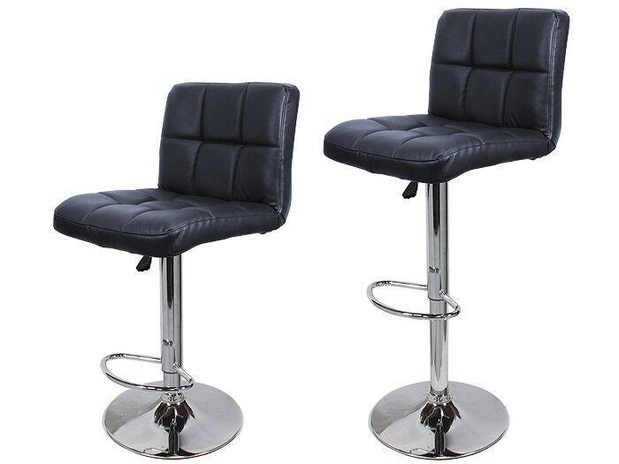 2 Black PU Leather Modern Design Adjustable Swivel  : 28KGrHqVHJCkFGKyLeD5BR229SNpG3w7E7E603 from www.ebay.com size 700 x 525 jpeg 26kB