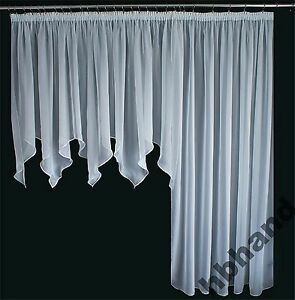 2 tlg balkon fenster gardine wei bordeaux 500 245. Black Bedroom Furniture Sets. Home Design Ideas