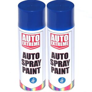 2-x-500ml-Dark-Blue-Gloss-Spray-Paint-Aerosol-Can-Auto-Extreme-Car-Van-Bike
