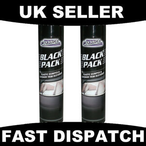 2 x black car plastic bumper exterior trim restorer ebay Black interior car trim restorer