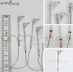 2-x-LED-Metal-Strassenlampe-5cm-Modellbau-1-150-1-200-Modelleisenbahn-Spur-N-Z