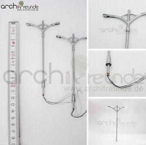 2-x-LED-Metal-Strassenlampe-mit-2-Lampen-10cm-Modellbau-1-87-1-75-Spur-H0-00