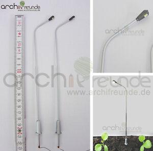 2-x-LED-moderne-Kupfer-Strassenlampe-21cm-Modellbau-1-50-Modelleisenbahn-Spur-0