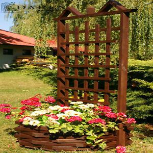 2 x rankgitter artikelbild pergola mit blumenkasten pflanzkasten holz 152cm new ebay. Black Bedroom Furniture Sets. Home Design Ideas