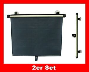 2 x sonnenschutzrollo universal sonnenschutz 45x50 cm. Black Bedroom Furniture Sets. Home Design Ideas