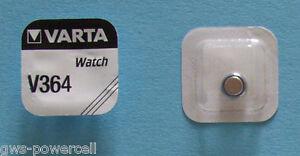 2-x-VARTA-V-364-Knopfzelle-Uhrenbatterie-V364-SR621SW-SR60-SR621-AG1-Blister