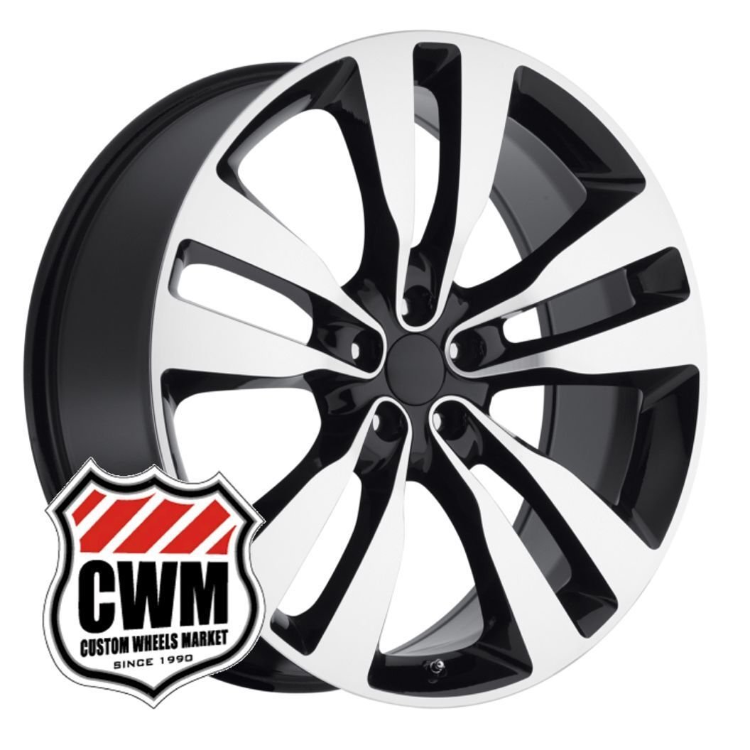 "20"" 2012 Dodge Charger SRT8 Black Machined Wheels Rims Fit Chrysler 300 2005"