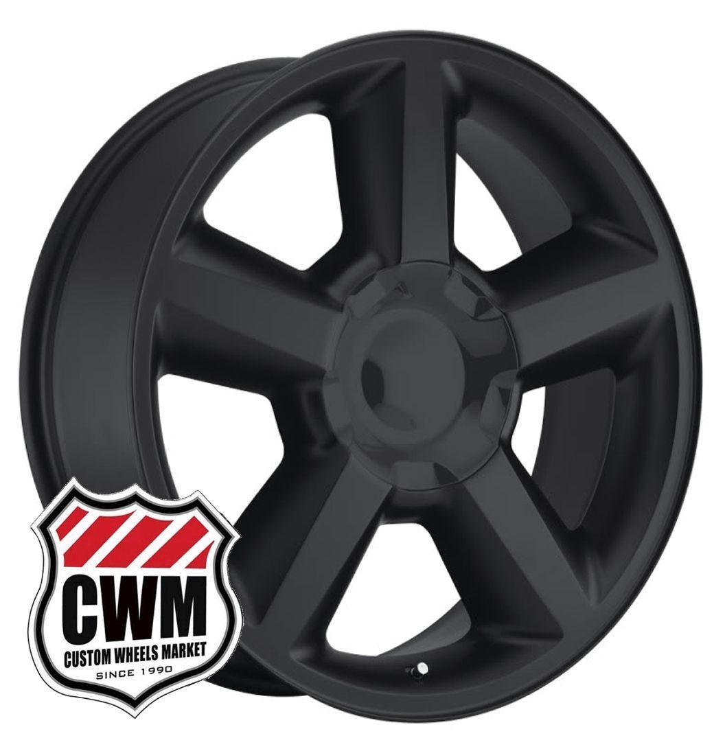 Chevy Tahoe LTZ 2007 Style Matte Black Wheels Rims 6x5 50 31mm