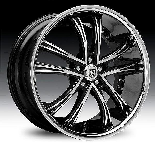 """20"""" 22"""" 24"""" 26"""" 28"""" 30"""" Lexani LSS55 Black Chrome Wheels Cadillac Escalade"""