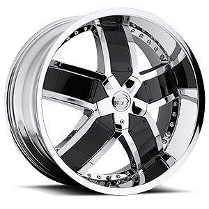 20 22 24 VCT Lombardi Chrome Black Wheels Chevy Impala Caprice Donks