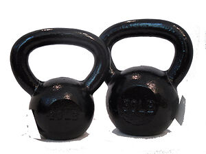 649717dd2d3 10lb   30lb Black Cast Iron Kettlebell Set by Troy Barbell on PopScreen