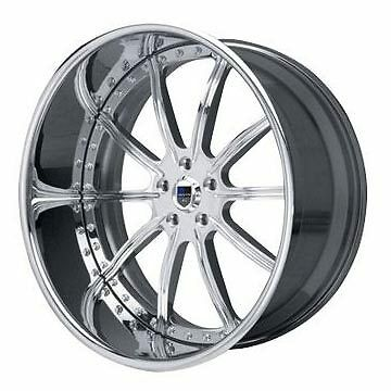 AF130 AF 130 Chrome Multi 2 Piece Rims Wheels Tires Package