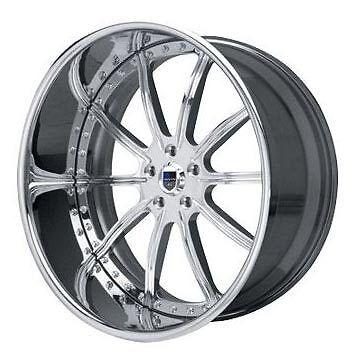 AF130 AF 130 Chrome Multi 2 Piece Rims Wheels Tires Package