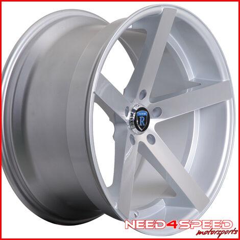 """20"""" Audi B8 A5 Rohana RC22 Deep Concave Silver 20x11 Wheels Rims"""
