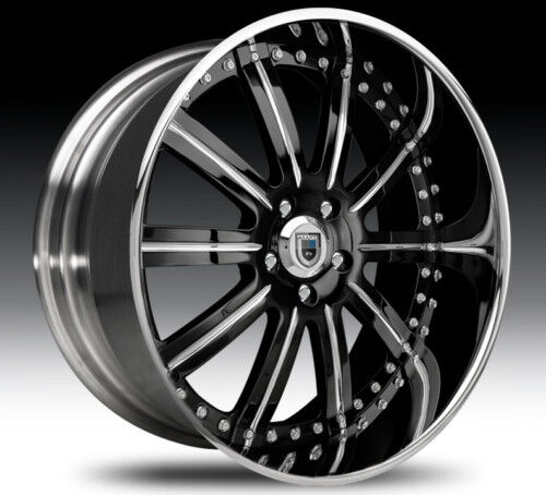 20 asanti AF134 Black Chrome Wheels Rims 2 Piece Tone
