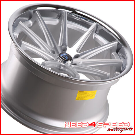 740IL 750iL Rohana RC10 Concave Silver Staggered Wheels Rims