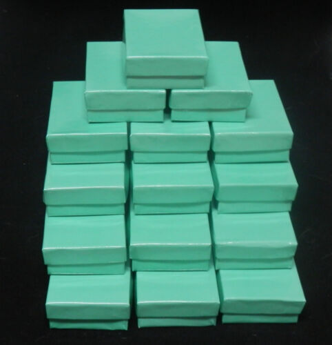 20 Beautiful Glossy Teal Cotton Filled Jewelry Presentation Boxes size3.25x2.25 in Jewelry & Watches, Jewelry Boxes & Organizers, Jewelry Boxes | eBay
