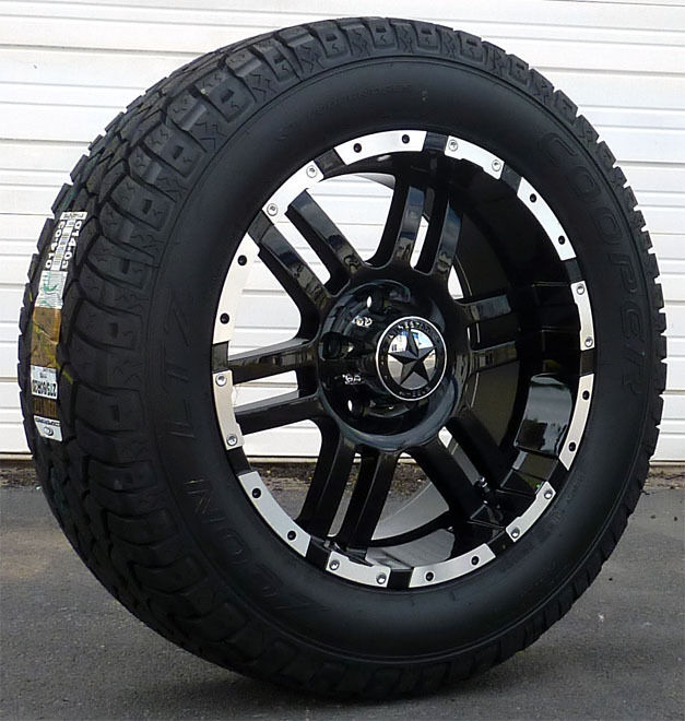 "20"" Black Wheels Tires Dodge Truck RAM 1500 20x9 Gloss Black 20 Inch"