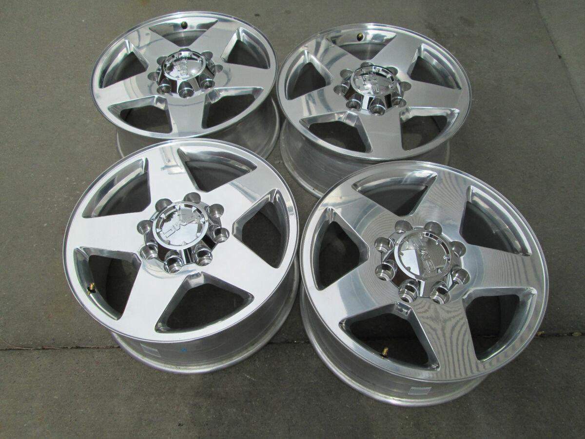 "20"" Chevy GMC Denali 2500 3500 HD Factory Silverado Polished Wheels Rims"