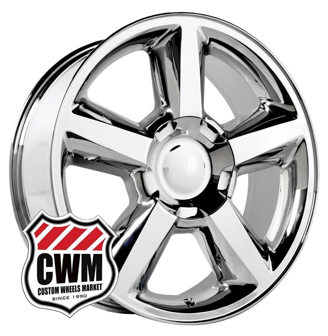 """20"""" Chevy Tahoe LTZ 2007 Style Chrome Wheels Rims for Chevy Avalanche 2013"""