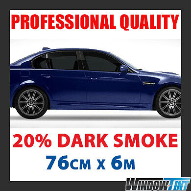 20 dark smoke pro car window tint film roll 76cmx6m ebay for 20 window tint at night